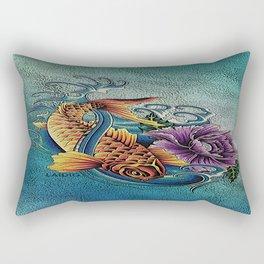 Golden Koi Rectangular Pillow