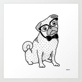 Diplomatic Pug Art Print