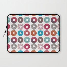 Colourful, illustrated, glazed, sprinkle Donut pattern Laptop Sleeve