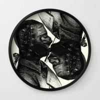 bdsm Wall Clocks featuring BDSM XXXVI by DIVIDUS