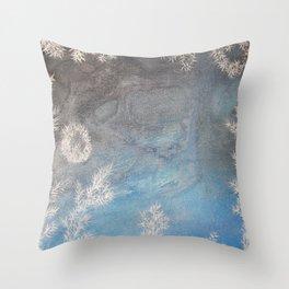 Iceflowers 2 / Acrylic Painting Throw Pillow