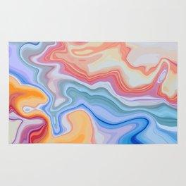Liquid Rainbow Agate Gem Rug