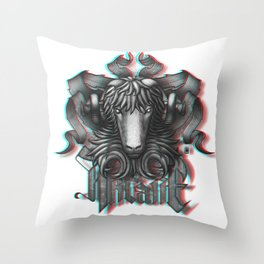 Mystical Aries anaglyph 3D Throw Pillow