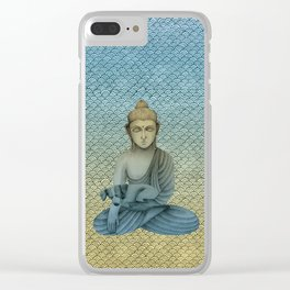 Buddha with dog4 Clear iPhone Case