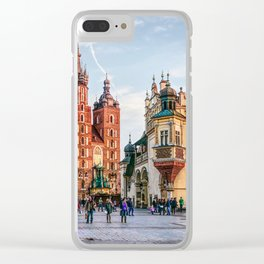 Cracow Main Square art Clear iPhone Case