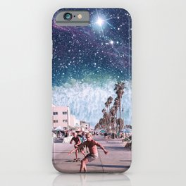 Starry Waves - Space Aesthetic, Retro Futurism, Sci Fi iPhone Case
