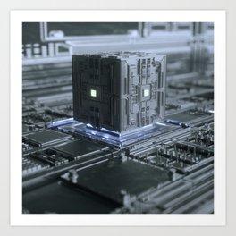 Data Cube Art Print