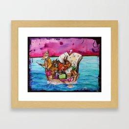 Me, My Stuff and I Framed Art Print