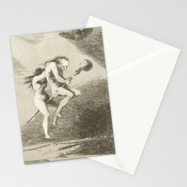 Witches on a Broomstick by Francisco Goya, 1797 Stationery Cards