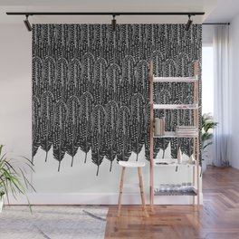 Black & White Feather Wilderness Wall Mural