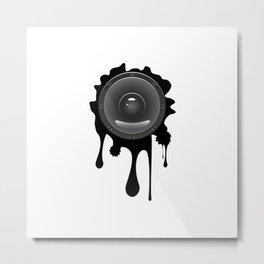Grunge sound loudspeaker Metal Print