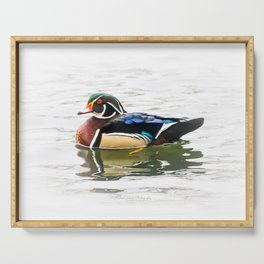 Wood Duck Three Serving Tray