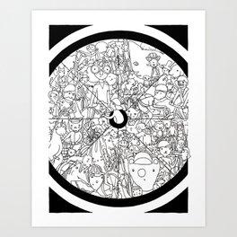 Bike Spokes & Folks Art Print