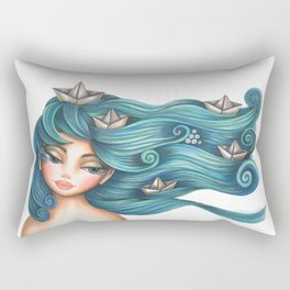 Hair Waves and Paper Boats Rectangular Pillow