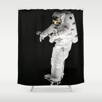 astronaut Shower Curtains featuring Astronaut  by Limitless Design