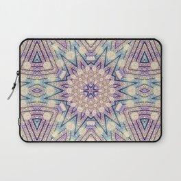 Metallic Pink Doily Geometric Star Laptop Sleeve