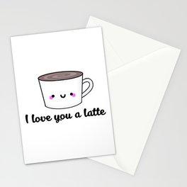 I Love You A Latte Stationery Cards