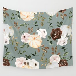 Autumn is calling - pumpkins are falling Wall Tapestry