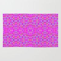 candy Area & Throw Rugs featuring Candy Colored Pixels by 2sweet4words Designs