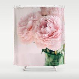 Blush Peonies Shower Curtain