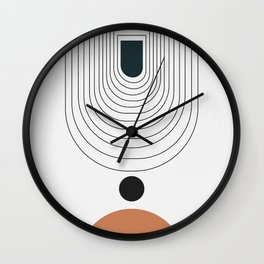 Abstract circles and gate background Wall Clock