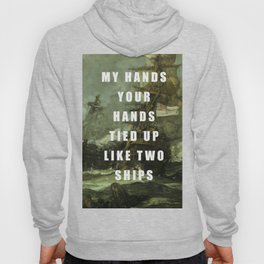 Two Ships Anchored Hoody