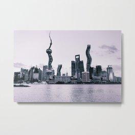 Crooked City Metal Print