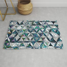 Flower of life pattern - Pearl and abalone Rug