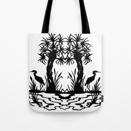 Lowcountry Herons - Papercut Silhouette Scherenschnitte Tote Bag