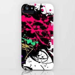Funky splatter iPhone Case