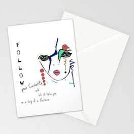 Follow your curiosity Stationery Cards