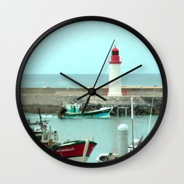 France Atlantic Harbour Wall Clock