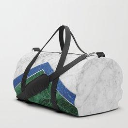 Arrows - White Marble, Blue Granite & Green Granite #220 Duffle Bag