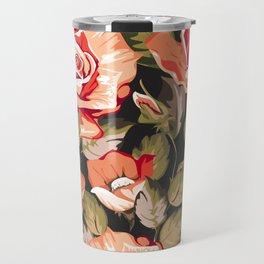 Red flowers pattern Travel Mug