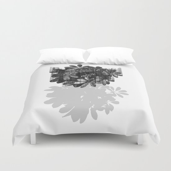 Sadly, there are no parachutes for plants. Duvet Cover