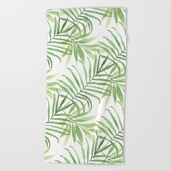 Tropical Branches Pattern 05 Beach Towel