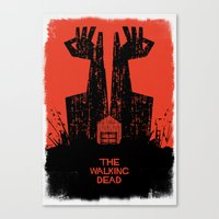 dead Canvas Prints featuring The Walking Dead. by David