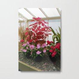 Pink Plants Metal Print