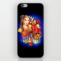 beauty and the beast iPhone & iPod Skins featuring Beauty And The Beast by neutrone