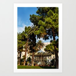Dream park, Nice France Art Print