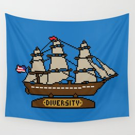 Anchor Pixel Wall Tapestry