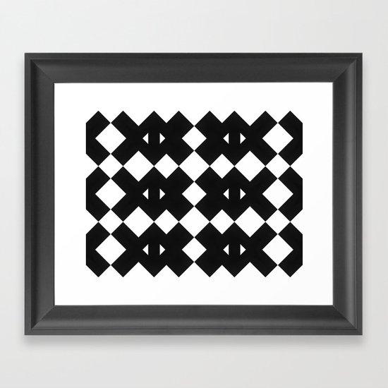Branting Black & White Pattern Framed Art Print