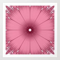 Mauve Pink Flower Art Print