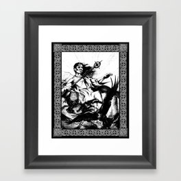 Druid and Crows Framed Art Print