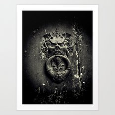 Knock if you dare! Art Print
