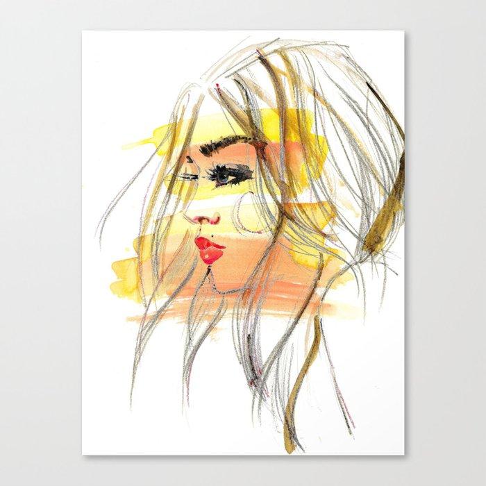 Sunset Girl 1 Canvas Print