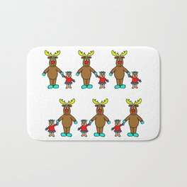 cute christmas friends Bath Mat