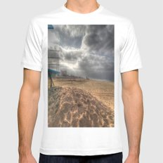 Storm Warning MEDIUM White Mens Fitted Tee