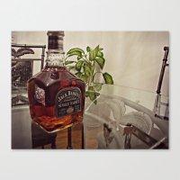 jack daniels Canvas Prints featuring Jack Daniels by Orlando Gurrola
