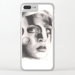 twiggy in mask... Clear iPhone Case